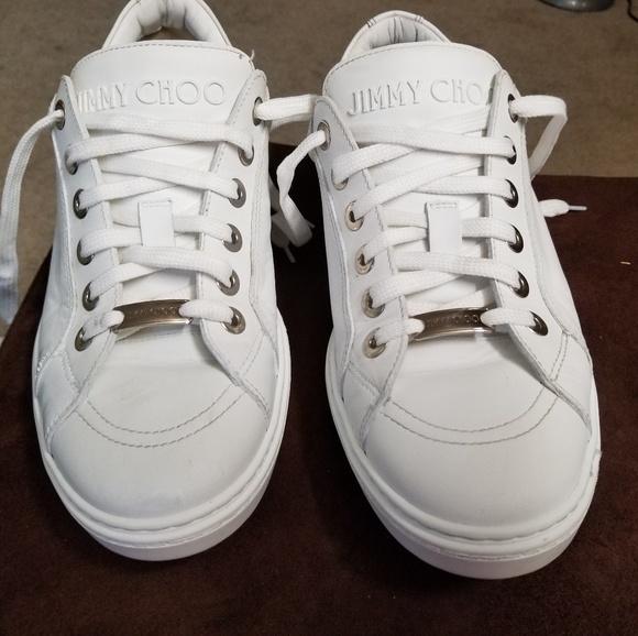6b120fc362 Jimmy Choo Shoes | White Sneakers Men Size 9 Us | Poshmark